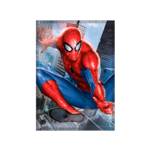 spiderman-fleece-deken-buildings