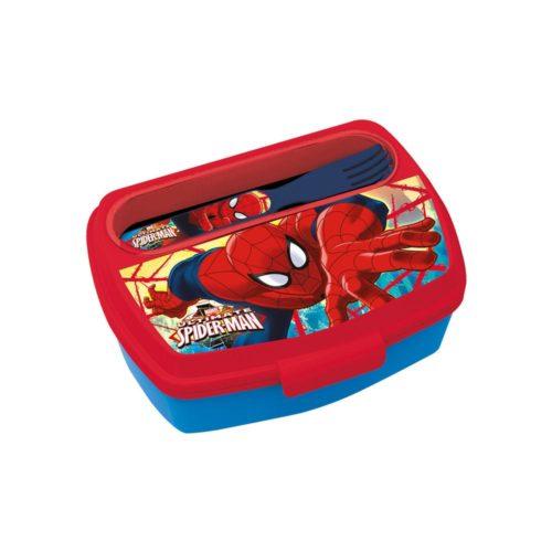 spiderman-broodtrommel-met-bestek