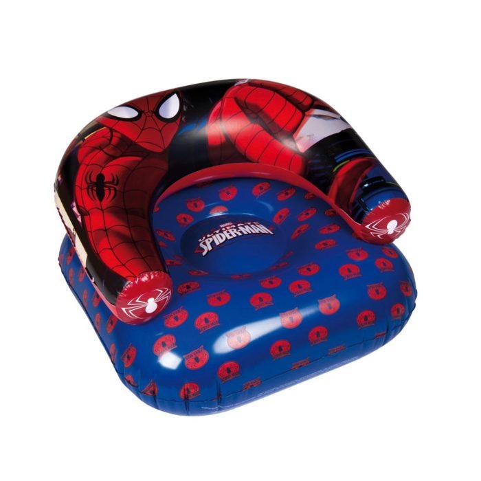 spiderman-opblaas-stoel