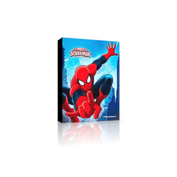 spiderman-op-canvas-blauw